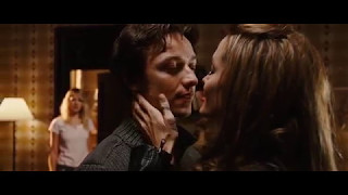 Angelina Jolie in Wanted 2008 | Fox kiss hot lucky Wesley (movie scene 8|9)