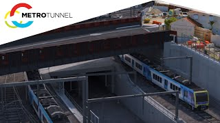 Major works in January 2020 for the Metro Tunnel Project