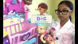 Disney Doc McStuffins Baby All In One Nursery Unboxing   Toys Academy