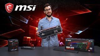 MSI MSI Vigor GK80 Gaming Tastatur, Cherry MX Red, Schwarz