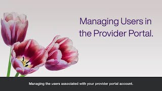 Managing users in the TELUS Health Provider portal