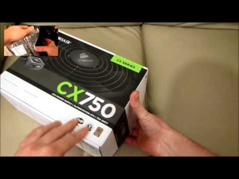 CORSAIR CX750 PC ATX POWER SUPPLY – Standard Unboxing & review