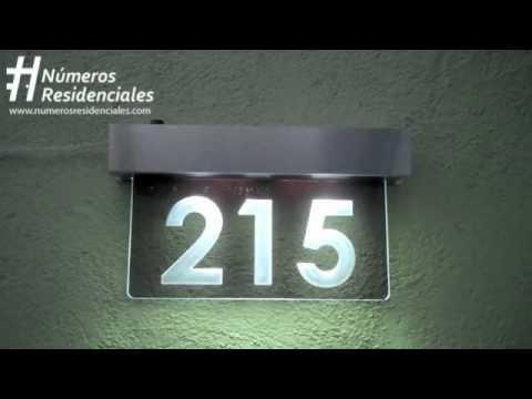 Números Residenciales - Placa Luminosa
