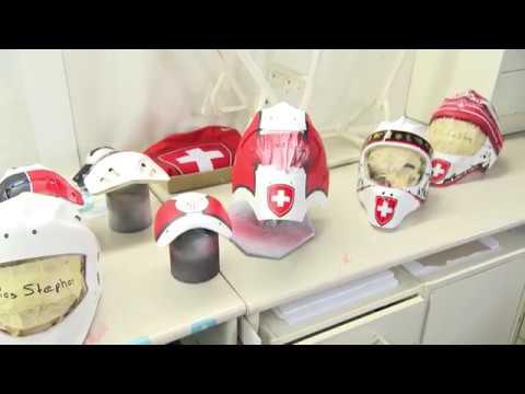 So entstehen die Goalie-Masken unserer Eishockey-Olympiafahrer
