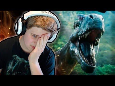 JURASSIC WORLD 2: FALLEN KINGDOM TRAILER REACTION! (2018) HD