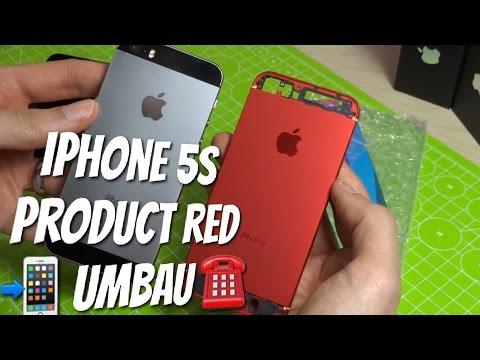 Product Red iPhone 5s im Eigenbau - Rot Schwarz iPhone 5s UMBAU
