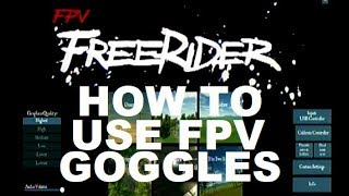 Free Rider Drone Simulator how to FPV YOUR COMPUTER APP REVIEW