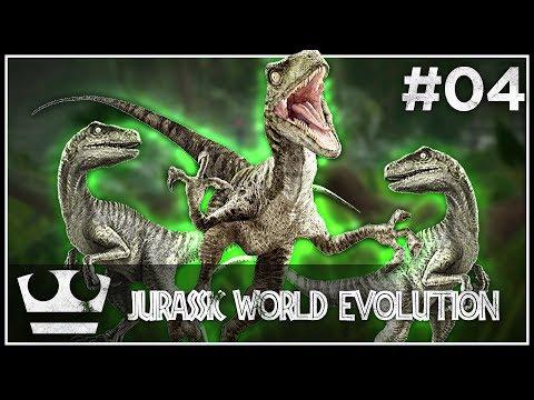 Nový výběh s VELOCIRAPTORY! JURASSIC WORLD EVOLUTION #04