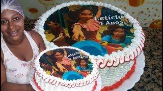 decorando bolo com bico Folha 115  tema princesa Elena Avalor   j.o confeitaria