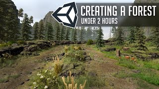 Create a Forest in Unity 2018 under 2 Hours