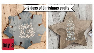 Dollar Tree DIY Christmas Wooden Decor | 12 Days Of Christmas Crafts