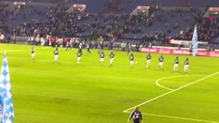 FC Schalke 04 Gegen VFB Stuttgart Einlauf Der Schalker Mannschaft.