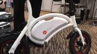 Electric bike offers style and security