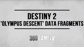 Destiny 2 Lost Memory / Data Memory Locations (Olympus Descent) - Worldline Zero Exotic Sword