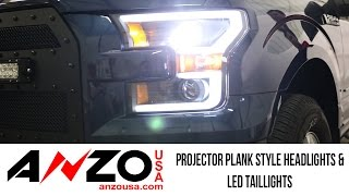 In the Garage™ with Total Truck Centers™: AnzoUSA Projector Plank Style Headlights & LED Taillights