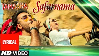 'SAFARNAMA' Tamasha Song (LYRICAL)   Ranbir   - YouTube