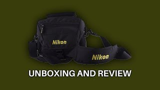 Nikon DSLR SHOULDER Camera Bag Black unboxing and review