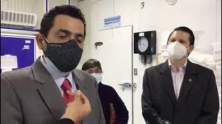 Visitan cuartos fríos para almacenar la vacuna contra el Covid-19