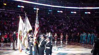 Chris Mann National Anthem LA Clippers Game 4/1/09