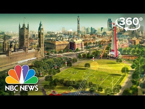 360 Video: The World's Fastest Zip Wire | NBC Nightly News