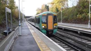 preview picture of video 'EMU Class 377's at East Grinstead'