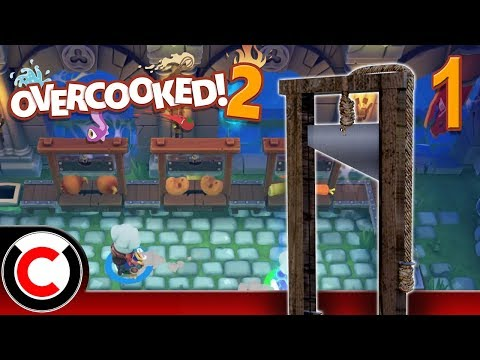 Overcooked! 2 (Hangry Horde DLC): The Veggie Gallows - #1 - Ultra Creepy