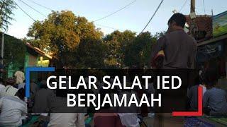 Gelar Salat Idulfitri Berjamaah, Warga Kelurahan Pabuaran Bojonggede Tetap Jaga Jarak