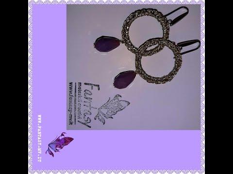 Tutorial Orecchini uncinetto Gold&Purple