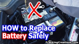 How to change Car battery SAFELY - Which wire to disconnect first? Plus don't lose memory settings