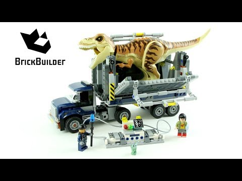 UNBOXING LEGO 75933 Jurassic World T. Rex Transport Construction Toy