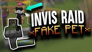WE USED A FAKE PET TO INVIS RAID A HUGE FACTION | Minecraft HCF