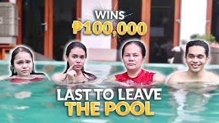 LAST TO LEAVE THE POOL WINS 100K!   IVANA ALAWI