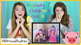 Reacting To Our Childhood Videos Part 2! / AllAroundAudrey