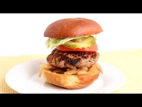 Cheddar Stuffed Burger Recipe – Laura Vitale – Laura in the Kitchen Episode 789