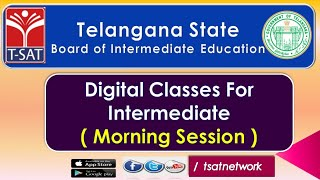 T-SAT || Digital Classes for Intermediate || 20-09-2020 || Board of Intermediate Education - TS