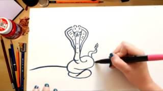 Como desenhar uma Cobra - desenhos para crianças