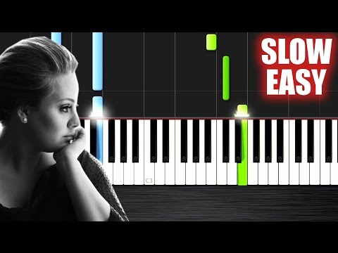 Adele - Someone Like You - SLOW EASY Piano Tutorial by PlutaX