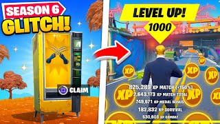 *NEW* Fortnite Season 6 GLITCHES you HAVE TO TRY! (XP GLITCH)