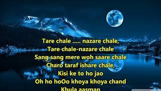 Khoya Khoya Chand - Kala Bazaar - Full Karaoke   - YouTube