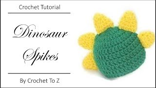 How to Make and Attach Crochet Dinosaur Spikes
