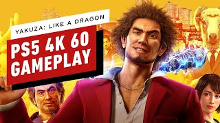 Yakuza: Like a Dragon - The First 14 Minutes of 4K 60 Gameplay on PlayStation 5 by IGN