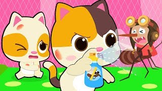 Cẩn thận!! muỗi đến kìa   Đuổi muỗi cùng mèo con Mimi   Hoạt hình - ca nhạc thiếu nhi hay   BabyBus