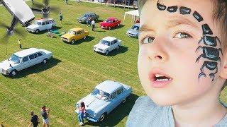 VATRA Retro Cars + Drone Aerial Video | Festival Concert si Mancare | Distractii Pentru Copii
