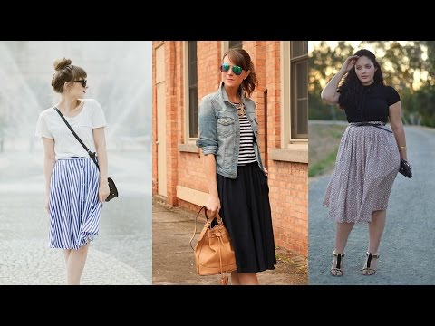 20 Style Tips On How To Wear Midi Skirts This Summer