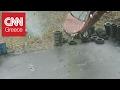 Απίστευτο τροχαίο: Αυτοκίνητο εξετράπη της πορείας του και… απογειώθηκε