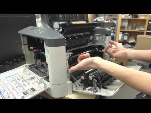 cambio de correa y rodillo de transferencia y fusor de una epson aculaser c3900n