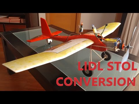 how-to-lidl-glider-conversion-to-rc-stol-short-takeoff-and-landing-radiocontrolled-plane