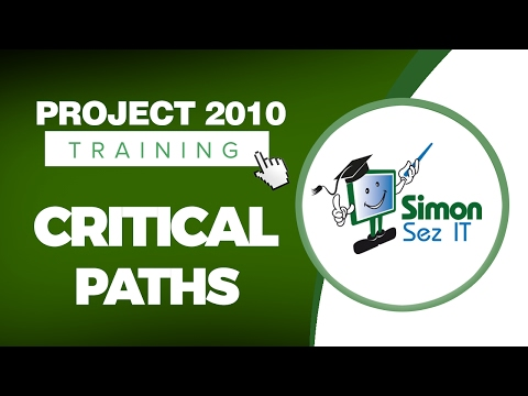 Microsoft Project 2010 Video Training Tutorial -- Critical ... - YouTube