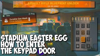 Stadium Easter Egg Guide! How To Enter The Keypad Door And Unlock Enigma Blueprint In Warzone