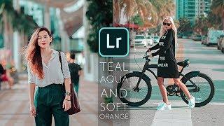 How To Edit Teal Aqua & Soft Orange Tone   Lightroom Mobile Tutorial